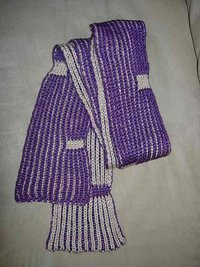 Two Color Brioche Scarf