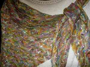 Bell Shawl Close Up
